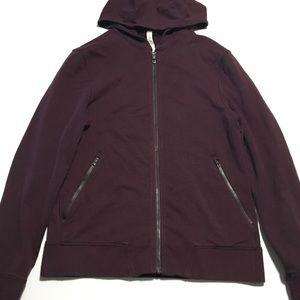 Lululemon • burgundy hoodie jacket